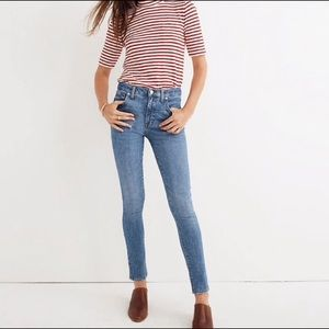 "Madewell 9"" High Riser Skinny comfort stretch eco"